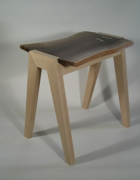 End table, maple & walnut