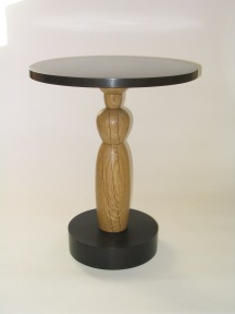 Caryatid table, white oak & jade tree