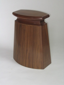 Stool, walnut