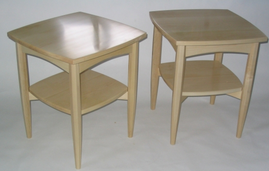 End tables, maple