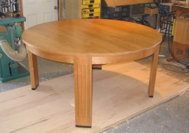 Dining table, cherry & ebony. Design by James Ireland