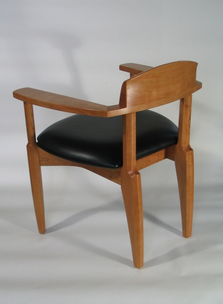 Chair, cherry & leather