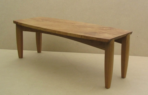 Coffee table, burr oak