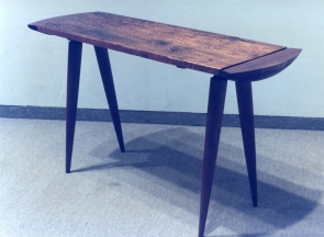 Table, walnut & rescued pine