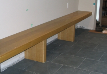Bench, white oak