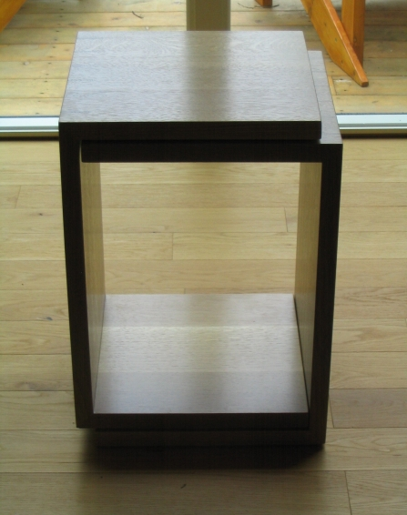End tables, white oak