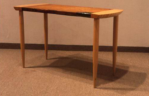 Table, rescued pine & maple