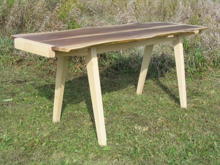 Table, walnut & maple