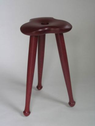 Stool, purpleheart