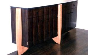 Sideboard, maccasar ebony, Australian lacewood & slate